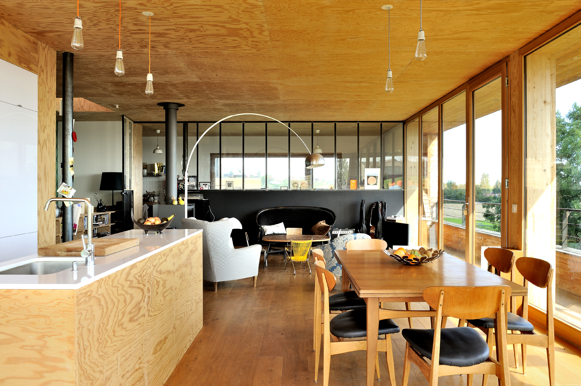 Amenagement interieur maison en bois for Interieur de maison contemporaine photo